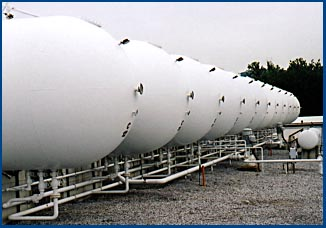 Ambient temperature LPG storage tanks