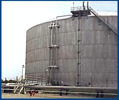 Refrigerated propane storage tank